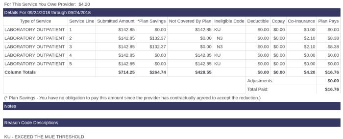 insurance billing craziness